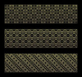 Gold seamless pattern with royal elements in a gothic style