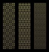 Gold pattern with royal elements in a gothic style