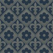 Silver seamless pattern on a dark blue background