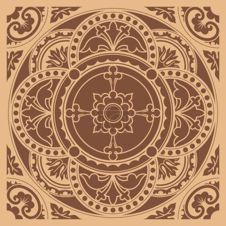 Decorative round lace, circle ornament.