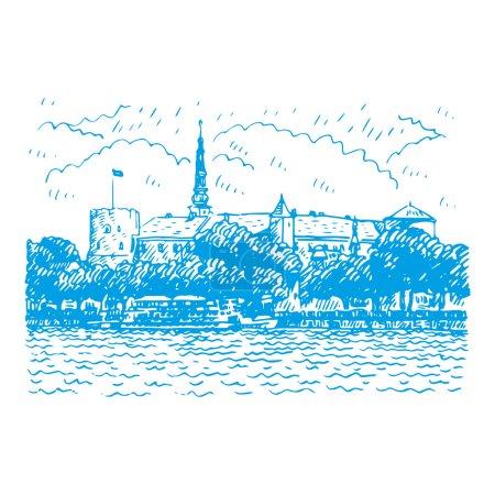 Riga Castle on the banks of River Daugava in Riga, Latvia.