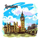 sketch illustration London