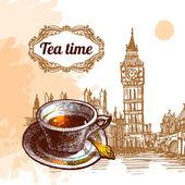 Tea time illustration