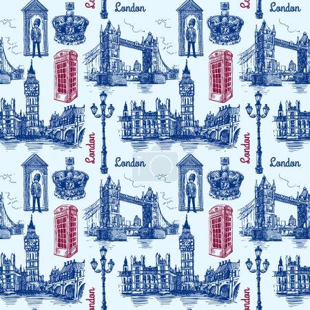 Photo pour Belle illustration de croquis vectoriels dessinés à la main Londres. Style croquis. Croquis de Londres . - image libre de droit