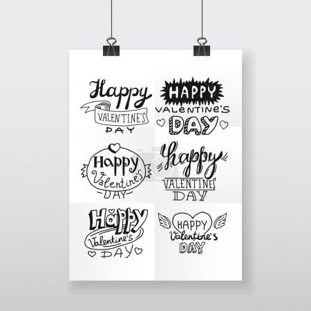 poster Valentines day lettering