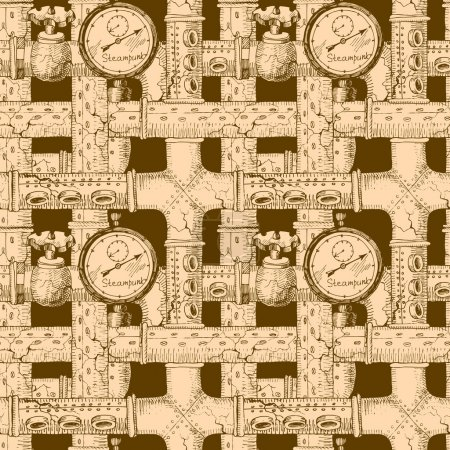Seamless pattern Steampunk
