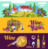 Tuscany and wine elements