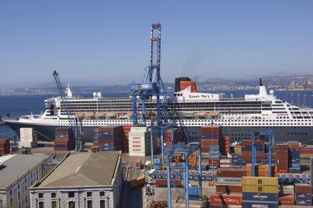 Port of Valparaiso in Chile