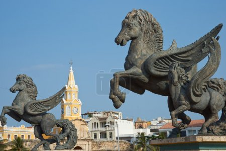 Pegasus Statues in Cartagena