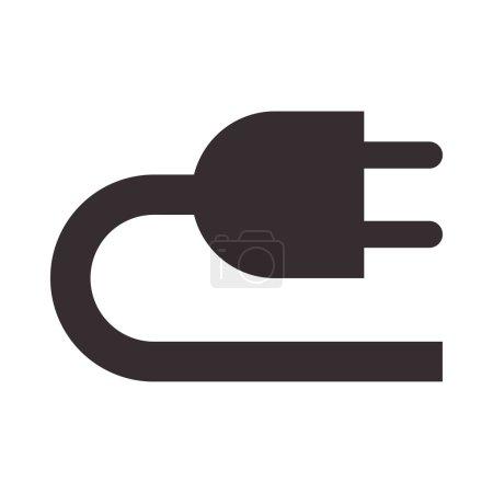 Illustration pour Icône Plug isolée sur fond blanc - image libre de droit