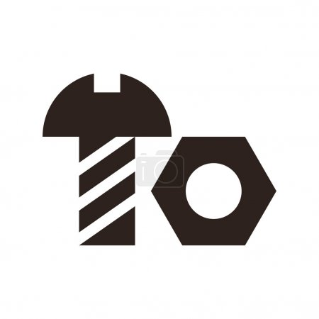 Nut and bolt icon