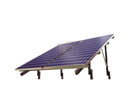Photo pour Panneau solaire isolé sur fond blanc - image libre de droit