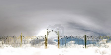 Photo for 3d illustration of the amazing heaven gate - Royalty Free Image