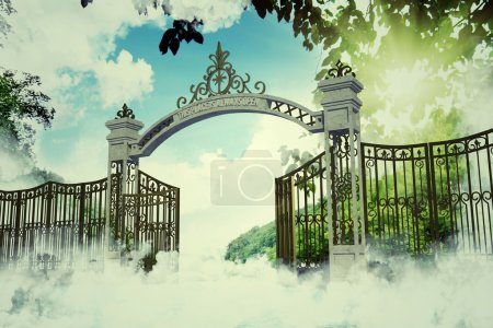 Heaven gate in an old illustration...