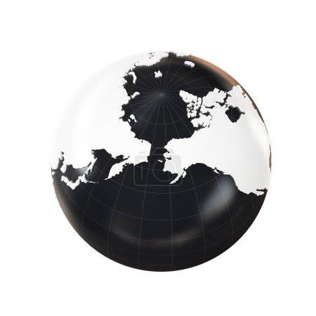 Photo pour Globe 3d extrudé géopolitique, isolé sur fond blanc - image libre de droit