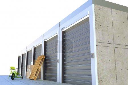 Storage units isolated on white background