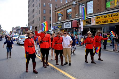 RCMP in Gay Pride Parade Ottawa