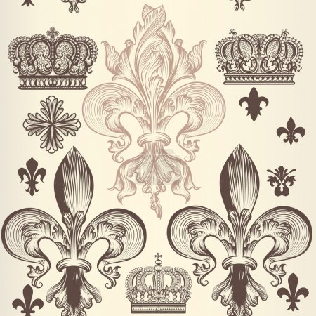 Retro ornamental seamless wallpaper pattern