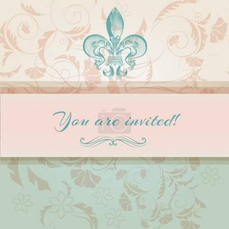 Luxury wedding invitation in Victorian style