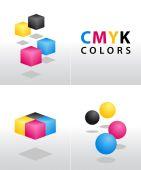 CMYK tvary a barvy