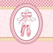 Scalable vectorial image representing a ballet slippers on background