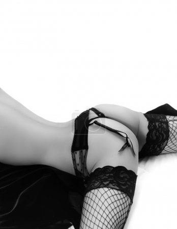 Fishnet stockings - g-string beautiful sexy womans body