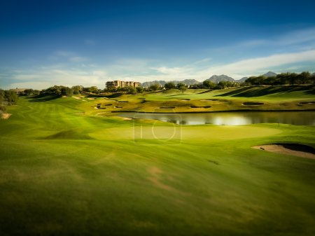 Photo pour Terrain de golf Scottsdale, Arizona, USA - image libre de droit