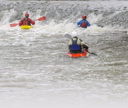 White water rafting kayaking