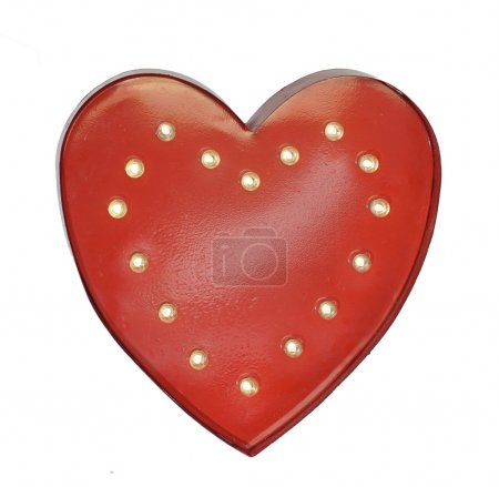 Red heart shape, symbol of love
