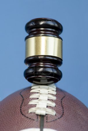 Football legal issue concept image