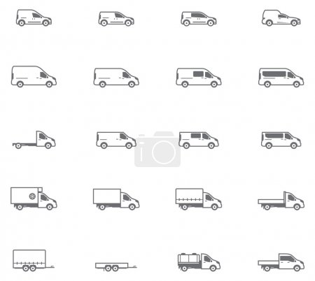 Vector commercial transport icons