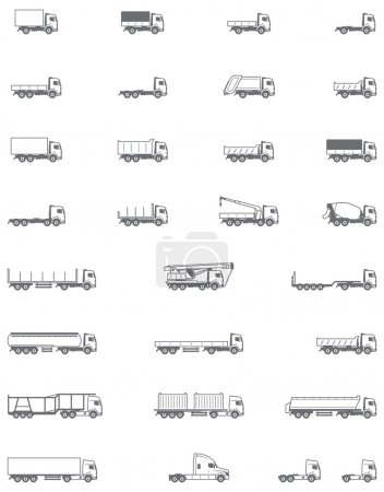 Vector trucks icons