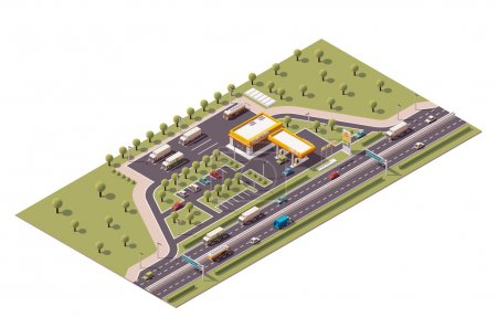 Vector isometric filling station