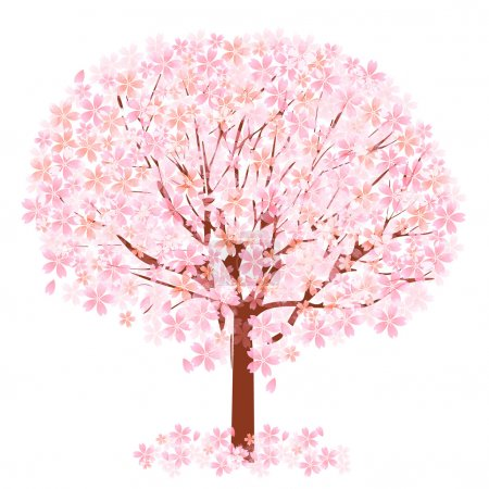 Illustration for Cherry blossom tree - Royalty Free Image