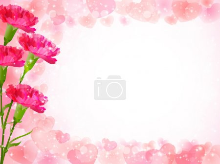 Carnation Mother's Day background