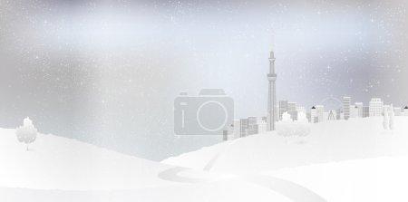 Snow Tokyo background