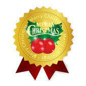 Christmas holly stuha medaile