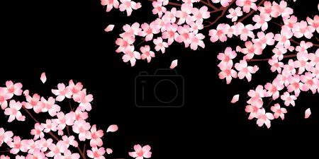 Illustration for Spring cherry blossom background - Royalty Free Image