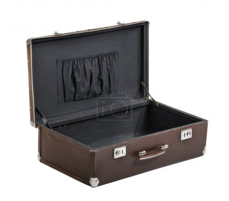 rarity brown leather suitcase