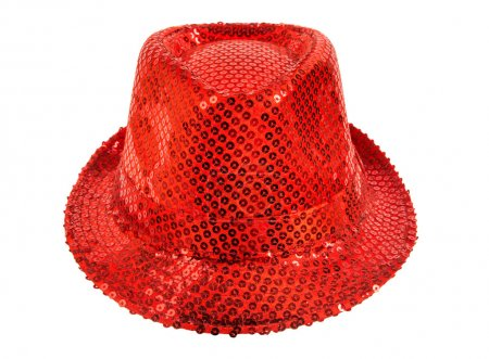 festively shining red hat