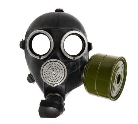 Gas-mask on white