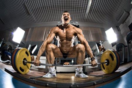 Bodybuilder in gym