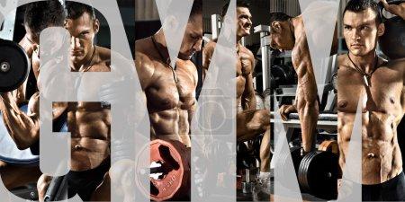 guy bodybuilder in gym