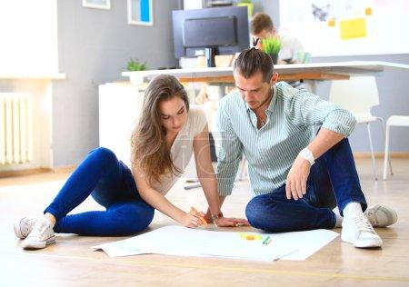designers working on sketch