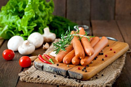 Sausages with vegetables and spices
