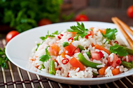 Healthy rice with vegetables