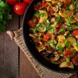 Постер, плакат: Vegetable Ratatouille in frying pan