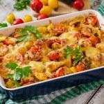 Vegetarian Vegetable casserole with zucchini, mush...