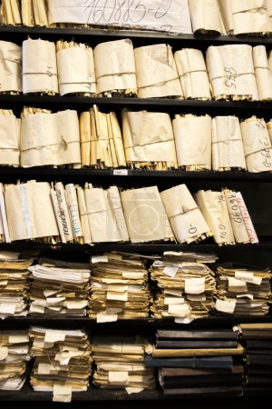 Paper documents   stacked