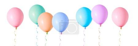 Multicoloured air flying balloons